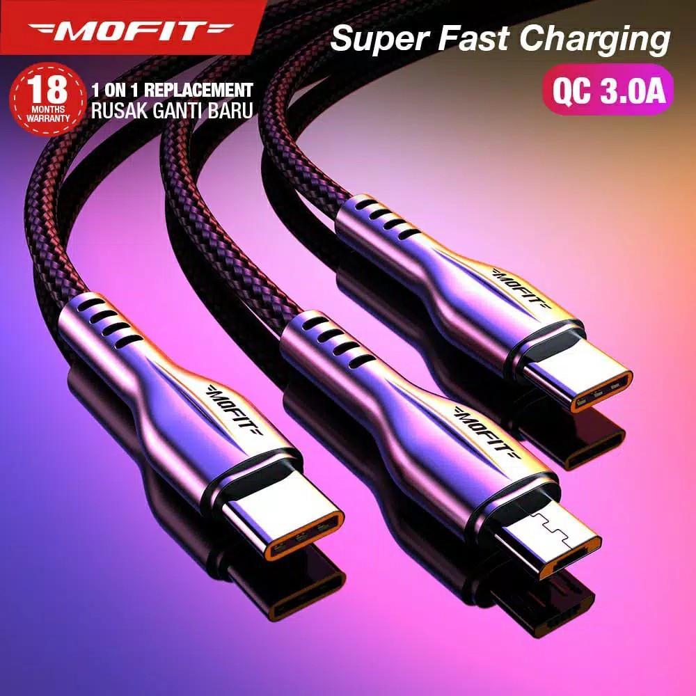 Kabel Data MOFIT M180 Quick Charge 3.0 - Tanpa Packing