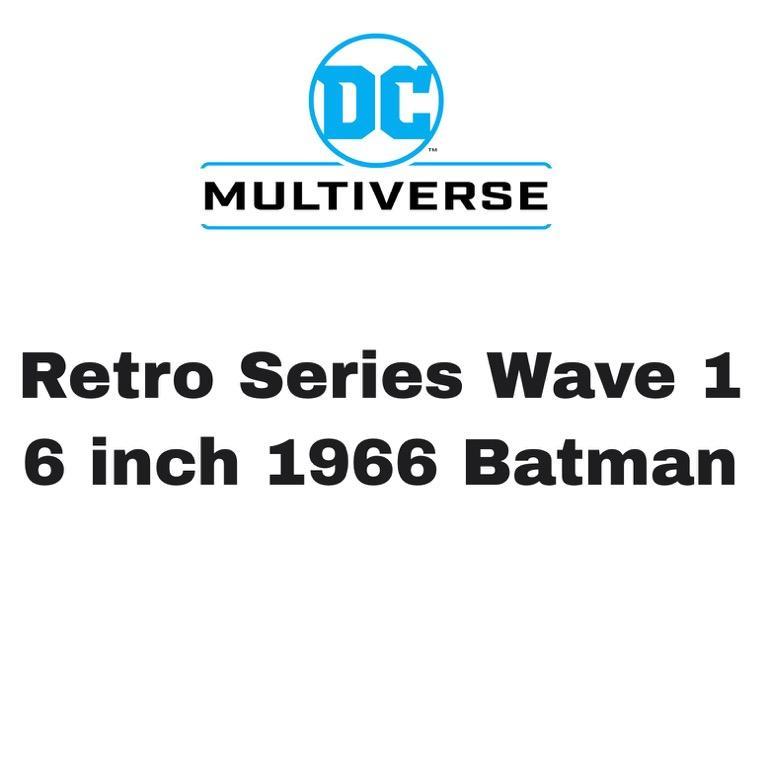 [Preorder] McFarlane DC Multiverse Retro Series 6 inch 1966 Batman