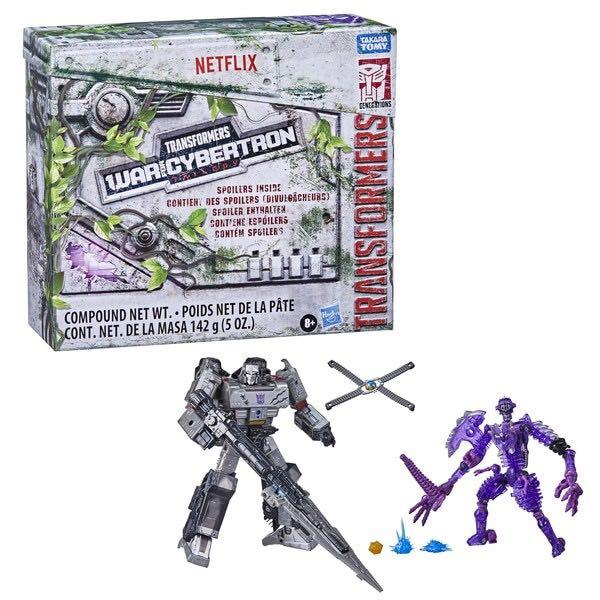 FREE COURIER PREORDER Transformers WFC Kingdom Spoiler pack Kingdom Megatron and clear purple  Paleotrex