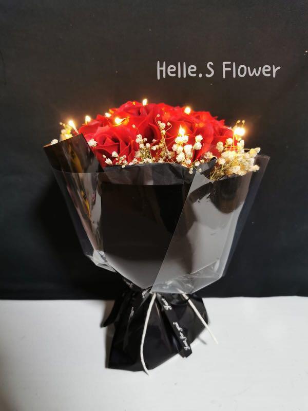 Proposal flower|Anniversary flower| Birthday flower| Thank you flower| Red roses| Soap flower|Gift ideas|Preserved flower|Bunga Sabun