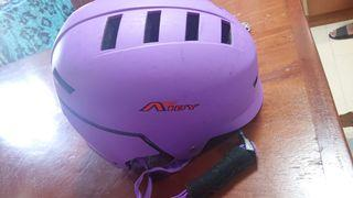 Purple large size helmet for bicycle