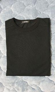 韓版黑T  袖子拼接襯衫