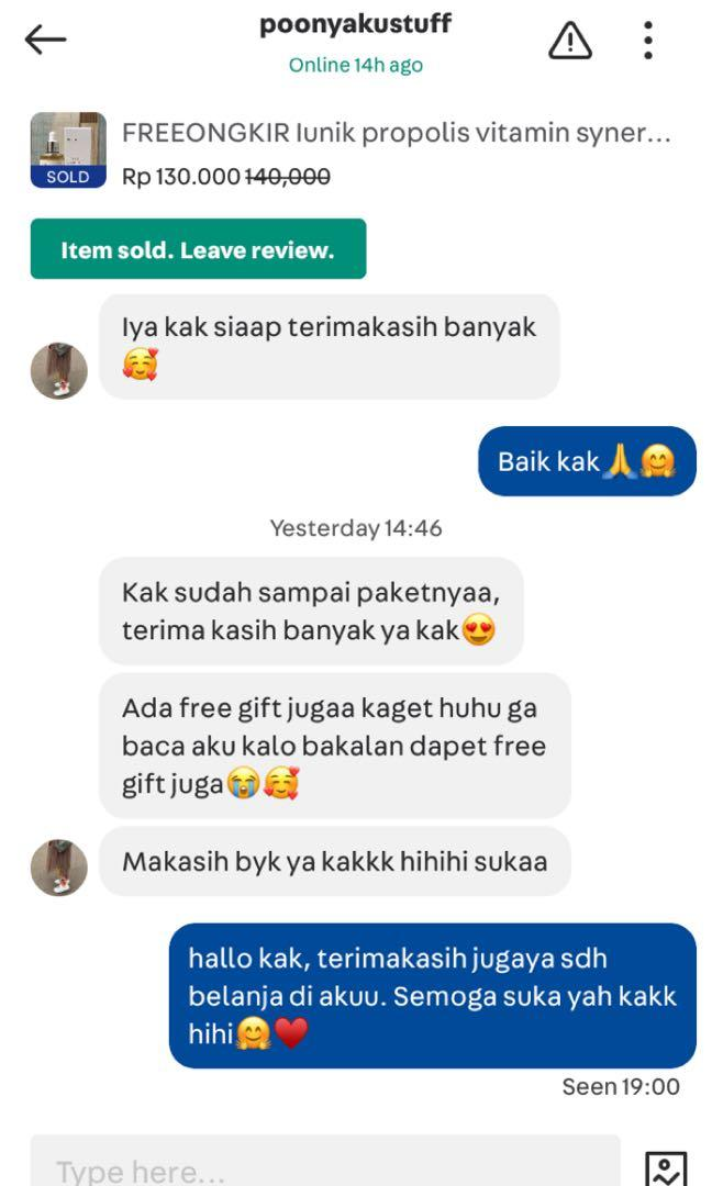 TESTI CHAT CUSTOMER😘♥️