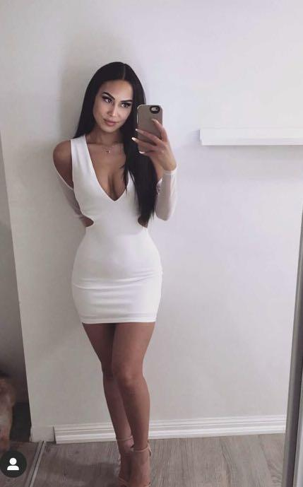White cut out dress worn only for picture