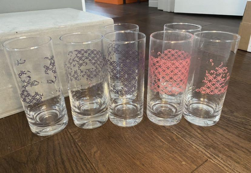 7 tall drink glasses