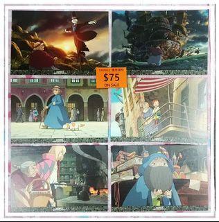 最後一套 2004年版 宮崎駿 Howl's Moving Castle 哈爾移動城堡 ハウルの動く城 明信片 一套6款 10x15cm