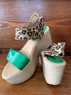 達芙妮 楔形涼鞋 拍婚紗鞋