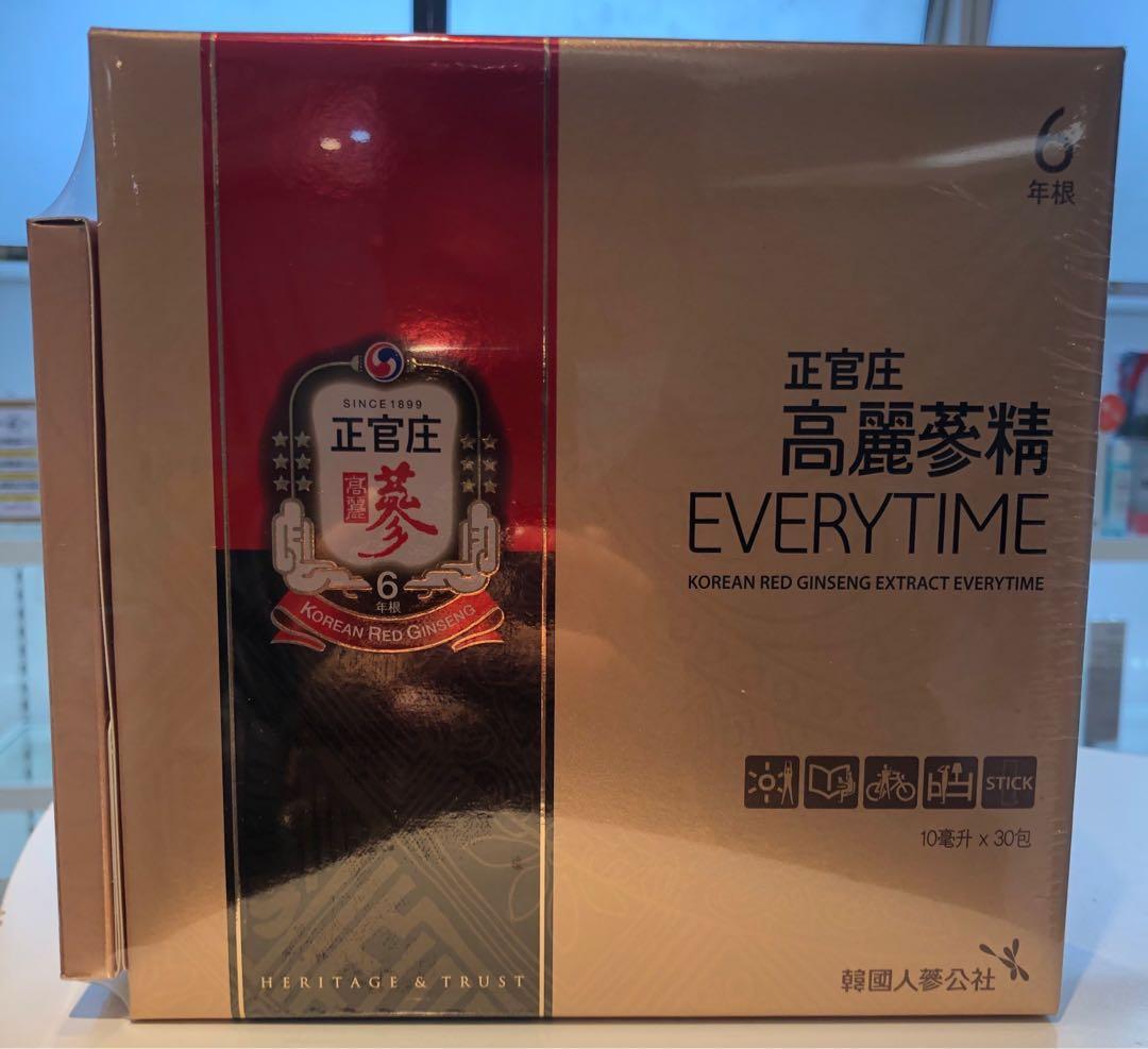 正官庄 高麗蔘精EVERYTIME, 每盒30+3包