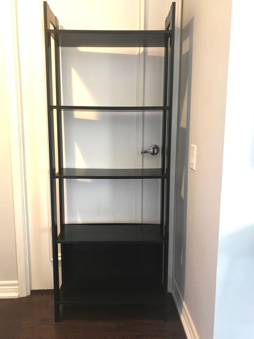 Bookshelf - 5 shelves, dark brown, FREE