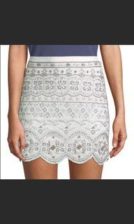Club Monaco beaded skirt