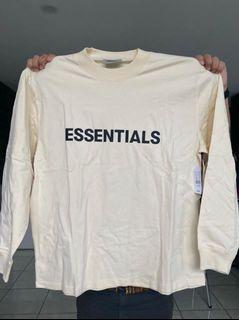 Fear of God Essentials long sleeve tee cream