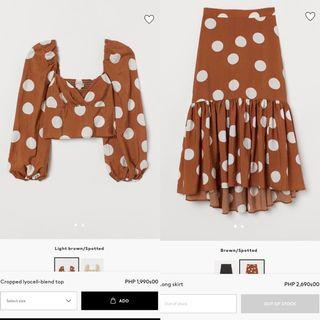 H&M Blouse and Skirt COORDS SET SALE!