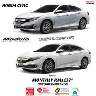 HONDA CIVIC MONTHLY FROM RM1137*