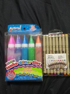 Jumbo Glitter Glue & Brush Color