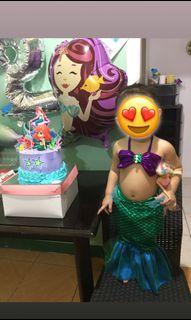 Mermaid costume 2-3yo