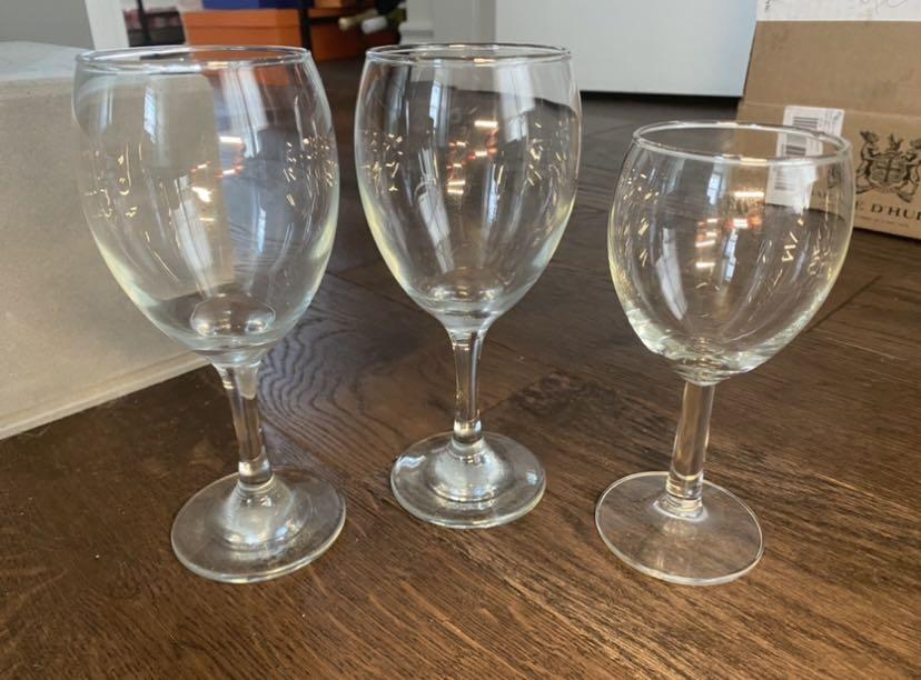 Mismatched wine glasses 3