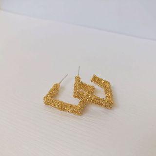 現貨!✨S925銀針韓國幾何金屬時尚耳釘