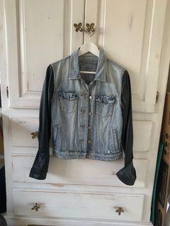 Talula Denim Leather Jacket size M
