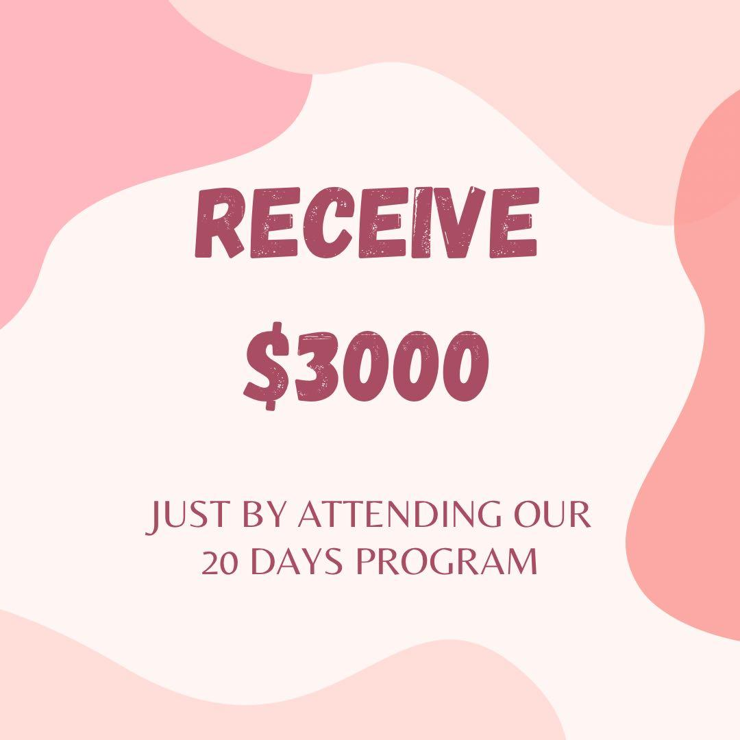 Urgent! Get paid $3000 for a 20 days Financial Program