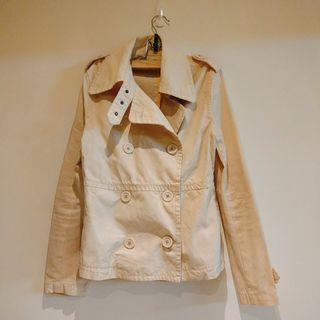 香港品牌2%, +-×÷ 加減乘除 米色短風衣外套 #