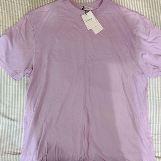 日貨粉紫色長版短袖上衣