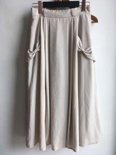 日本製 古著棉麻高腰長裙#我媽的