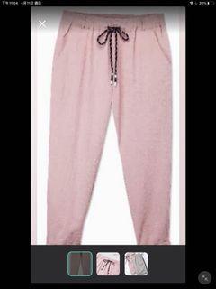 日貨 粉紅色薄款長褲
