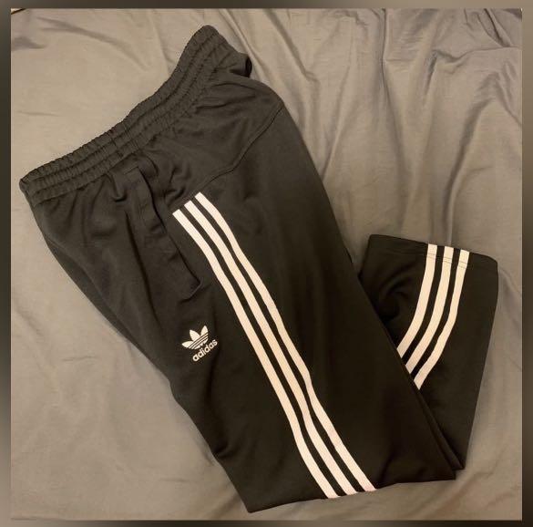 絕對正品 愛迪達 adidas 九分褲 三條線 長褲 運動褲 寬褲