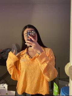 Bright Orange Oversized Pink Shirt