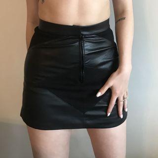 Faux Leather skirt size 02