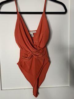 Forever 21 Orange Bodysuit