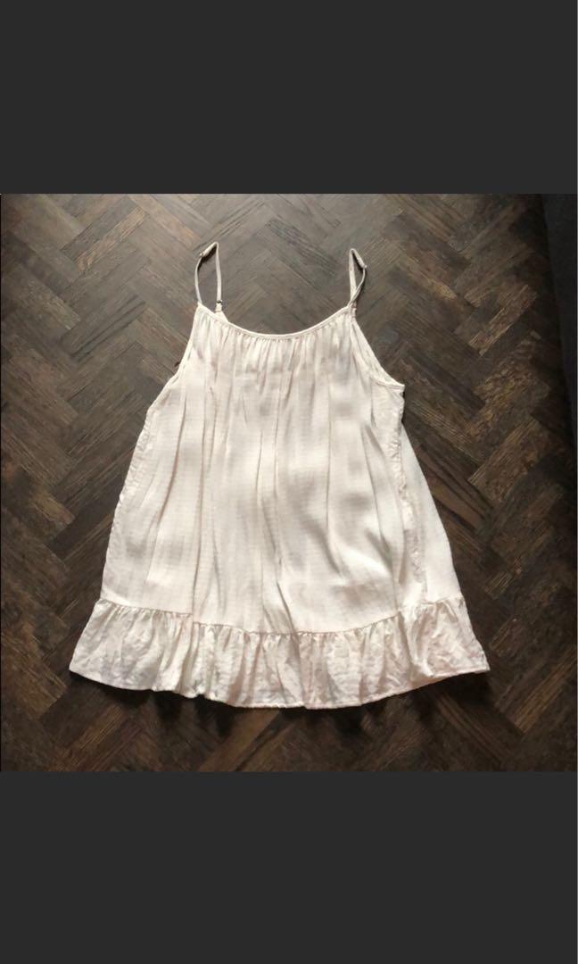 H&M | XS Cream Tie Blouse