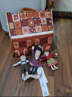Ikea Gingerbread House (with 3 dolls: Hansel, Gretel, witch)