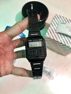 Jam Tangan Casio Calculator Original Mulus 90%
