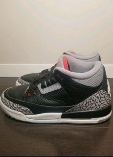 Jordan 3 Black cement size 7Y