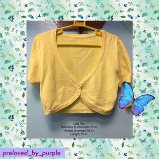 Knit cropped bolero - yellow 🌟