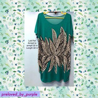 Leaves 🍃Printed Dress - green PLUS SIZE XL