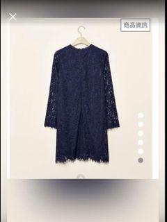 PAZZO深藍色蕾絲洋裝