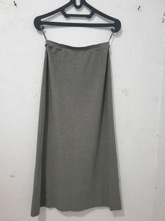 Rok span panjang kerja katun skirt