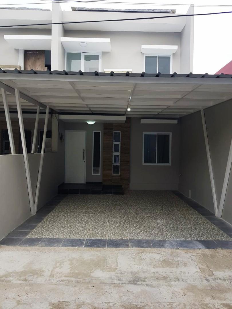 Rumah baru 2lantai Strategis Bebas Banjir di Kemang Sari Jatimakmur Pondok Gede