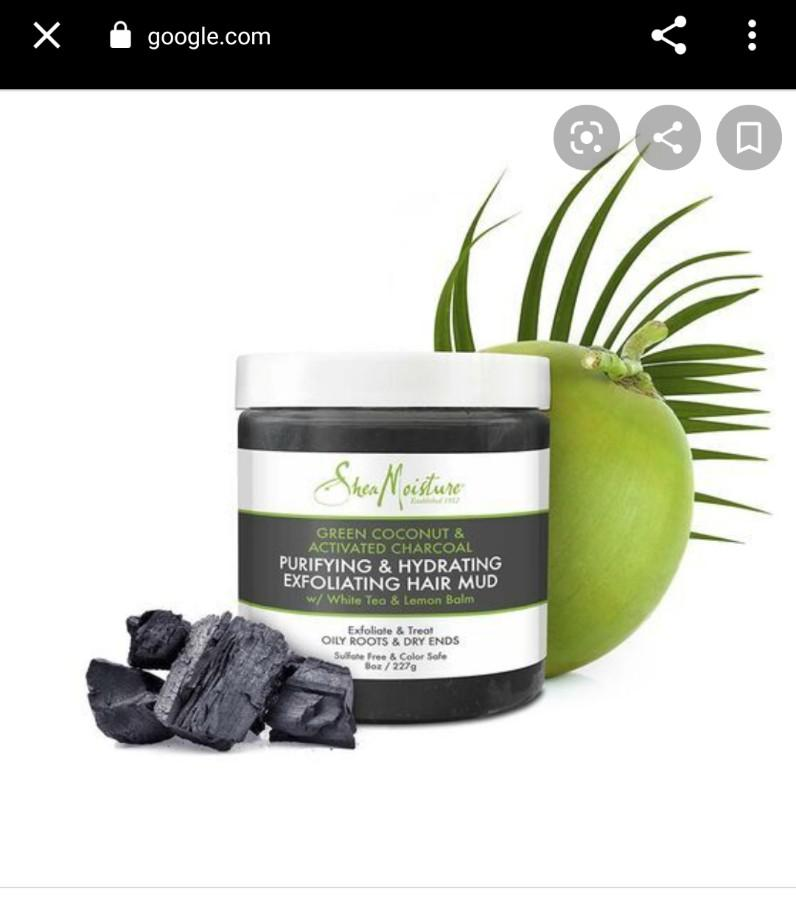 SheaMoisture Green Coconut & Activated Charcoal Exfoliating Hair Mud, 227 g