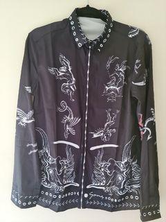 Silk-style Mens Fashion Shirt