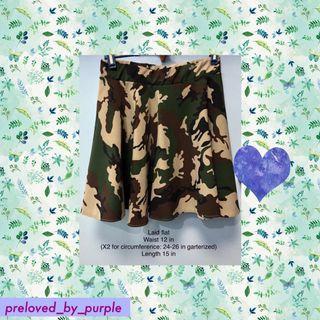 Skater skirt - camouflage print