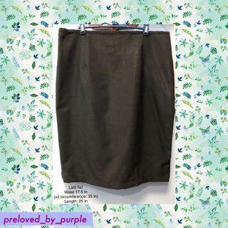Skirt - dark gray PLUS SIZE 2XL -3XLA