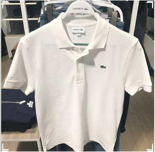 ($700for2)(S,M,L)LACOSTE 夏季Polo Tee White LACOSTE