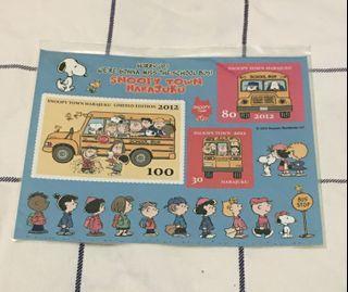 Snoopy peanuts harahuku snoopy town 2012 貼紙(絕版)