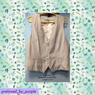 Soho• Chaleco / Vest - striped white PLUS SIZE Large to XL