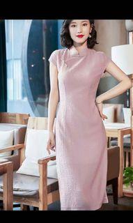 Summer CNY New Year Cheongsam Long Dress