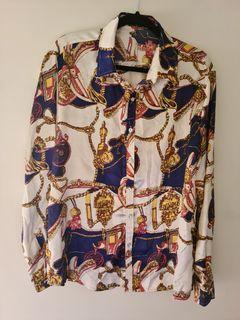 Versace-style Mens Fashion Shirt