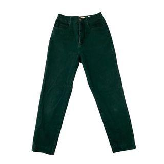 VINTAGE TALBOTS HUNTER GREEN HIGH WAISTED PANTS